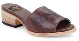 Freebird By Steven Path Slip-On Block-Heel Sandals