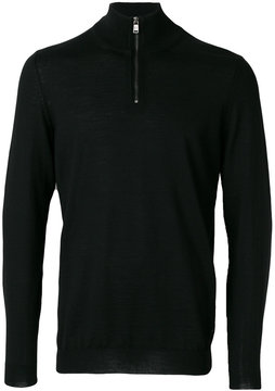 HUGO BOSS zipped turtleneck jumper