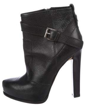DSQUARED2 Leather Platform Ankle Boots
