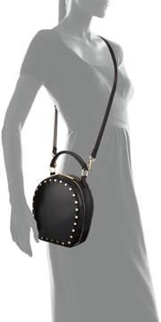 Neiman Marcus Smooth Studded Circle Shoulder Bag