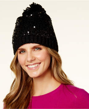 Betsey Johnson Sequin Beanie
