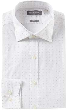 Michael Bastian Stretch Trim Fit Point Collar Picked Dress Shirt