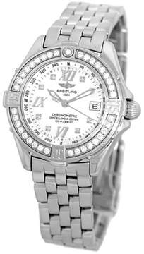 Breitling Diamond Windrider Cockpit Lady Stainless Steel 32mm Womens Watch