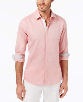 Ryan Seacrest Distinction Men's Slim-Fit Heathered Sport Shirt, Created for Macy's