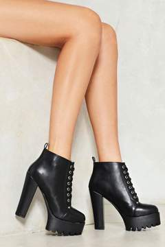 Nasty Gal nastygal You're In the Driving Cleat Heeled Boot