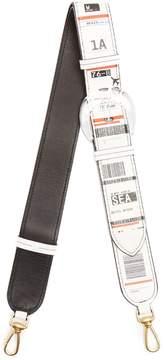 Maison Margiela Travel ticket-print leather bag strap