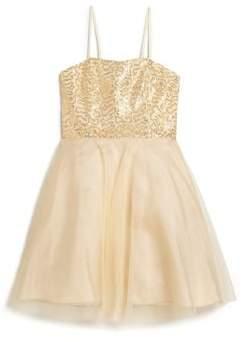 Un Deux Trois Girl's Sequin Dress