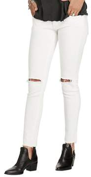 Denim & Supply Ralph Lauren Carmen Cropped White Skinny Jeans.