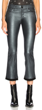 RtA Kiki Leather Pant in Gray,Metallics.