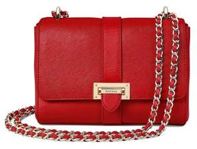 Aspinal of London Small Lottie Bag In Scarlet Saffiano