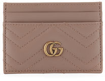 Gucci GG Marmont Matelassé Card Case - RED - STYLE