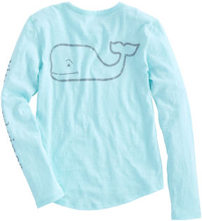 Vineyard Vines Girls Long-Sleeve Slub Vintage Whale Tee