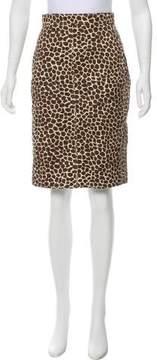 Akris Patterned Knee-Length Skirt