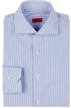 Isaia Men's Striped Cotton Shirt