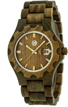 Earth Wood Gila Olive Bracelet Watch with Date ETHEW3304