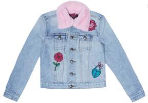 Juicy Couture Denim & Faux Fur Pansy Party Jacket for Girls