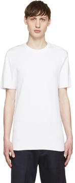 Neil Barrett White Knit Buttoned T-Shirt