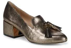 Karl Lagerfeld Paris Leather Loafer Pumps