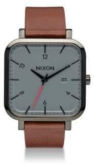 Nixon Leather Strap Watch
