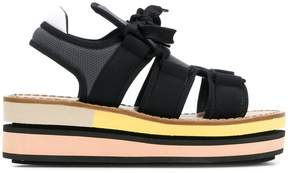 Marni lace-up platform sandals