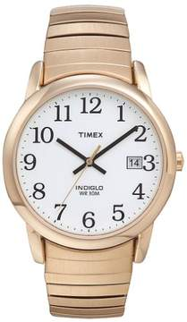Timex Men's Easy Reader Watch, Stainless-Steel Expansion Band
