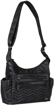Midnight Black Camper Crossbody Bag