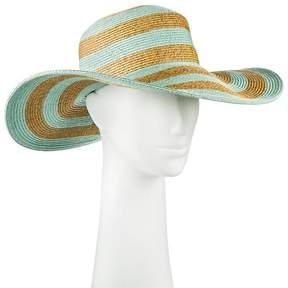 Merona Women's Floppy Hat Tan and Mint Stripe