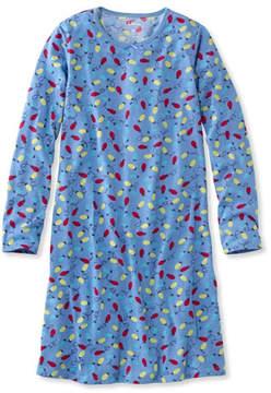 L.L. Bean Girls' Jersey-Knit Nightgown
