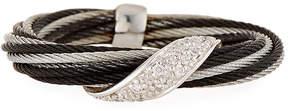 Alor Noir Curved Diamond Pavé Ring, Size 6.5