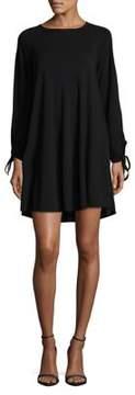 Context Plus Tie-Sleeve Trapeze Dress