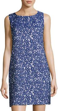 Cynthia Steffe Jade Sleeveless Floral Jacquard Shift Dress, Blue