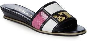Aperlaï Women's Colorblocker Leather Slides