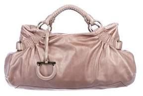 Salvatore Ferragamo Ruched Leather Handle Bag