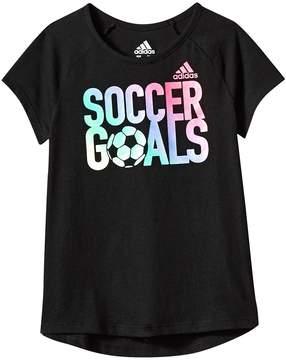 adidas Kids Goals Raglan Tee Girl's T Shirt