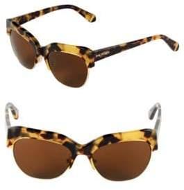Zac Posen Kouka 54MM Clubmaster Sunglasses