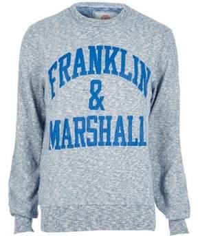 River Island Mens Blue Franklin and Marshall sweatshirt