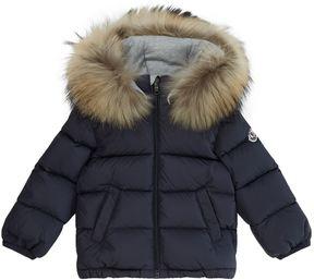 Moncler Bulgare Fur Trim Coat