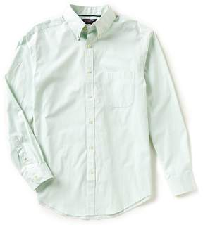 Roundtree & Yorke Big & Tall Trademark Long-Sleeve Striped Sportshirt