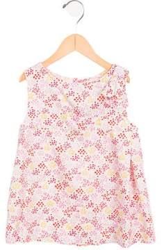 Jacadi Girls' Floral Print Sleeveless Top