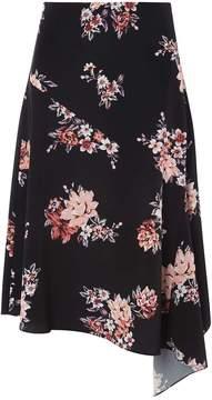 Dorothy Perkins Black Floral Print Midi Skirt