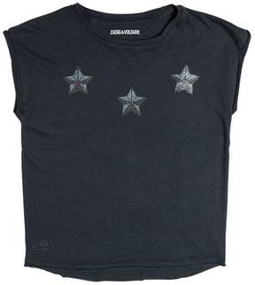 Zadig & Voltaire Star Embellished Cotton Jersey T-Shirt
