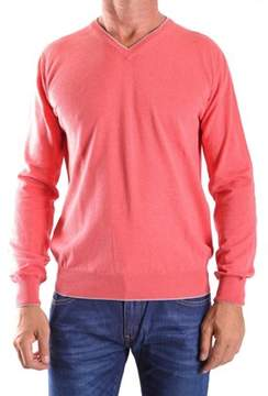 Altea Men's Orange Cotton Sweater.