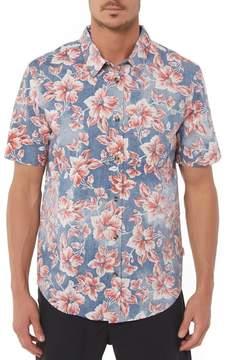 O'Neill Jack Luau Regular Fit Short Sleeve Sport Shirt
