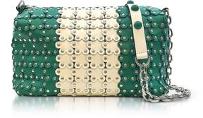 RED Valentino Mint Green/Ivory Studded Leather Shoulder Bag