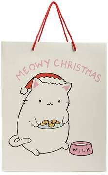 Forever 21 Meowy Christmas Cardboard Gift Bag Set