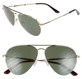 Balenciaga Women's 58Mm Aviator Sunglasses - Gold/ Green With Logomania