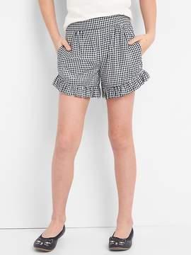Gap Gingham Ruffle Shorts