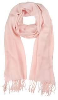 Mila Schon Women's Pink Wool Scarf.