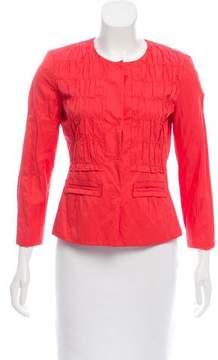 Tahari Tailored Collarless Jacket