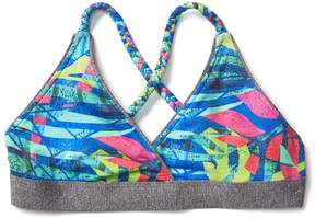 Athleta Girl Reversible Jungle Braided Bikini Top